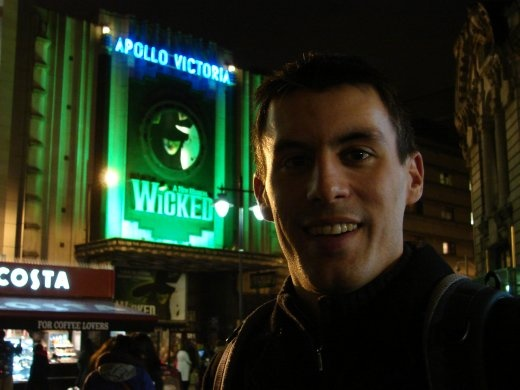 On our way to see 'Wicked' in London at the West End.