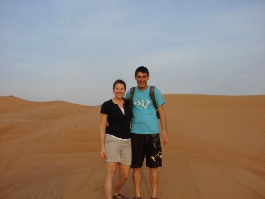 Us and the sand dunes.