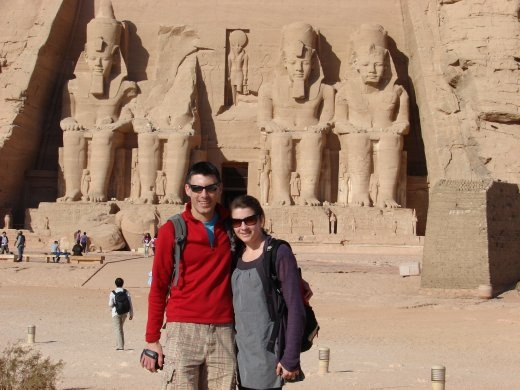 Em and I at Abu Simbel - Wow, what an amazing place to see!