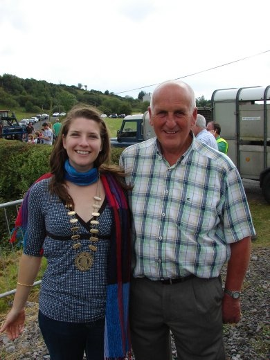 Em with the mayor of Donegal.