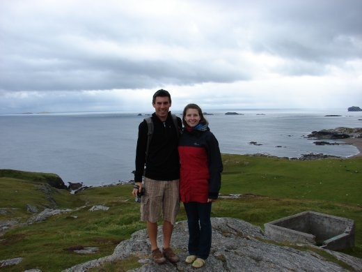 The two of us at Malin Head, Co. Donegal, Ireland's most northern point.