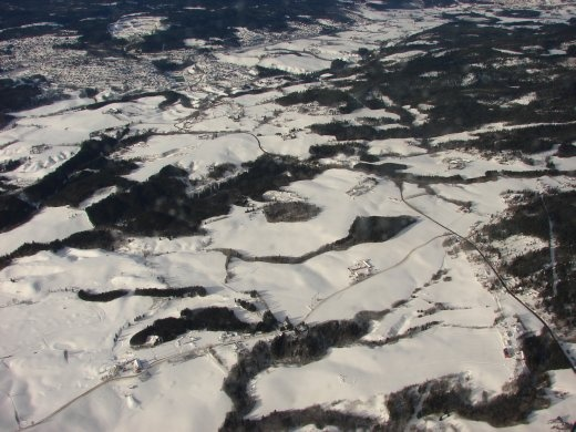 The countryside around Oslo. Lots of snow. Our Norway adventure is just beginning.
