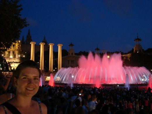 Em at the Magic Fountain. Very very cool!