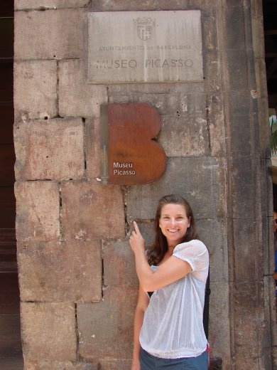 Em outside the Picasso museum in Barcelona.