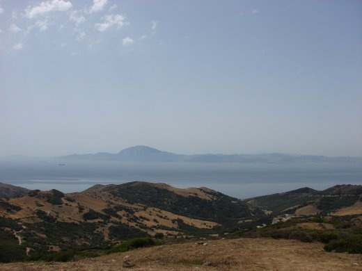 The view from Tarifa - The top of Africa, with Morocco in just 10km away.