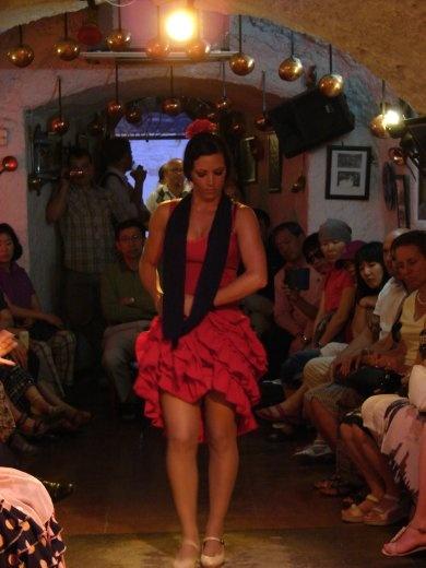 In Granda at the Flameno show.