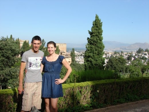 The two of us inside the Alhambra.