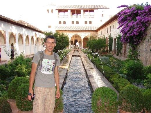 Maneesh inside the Alhambra.