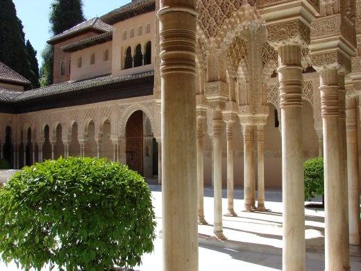 Inside the Alhambra.