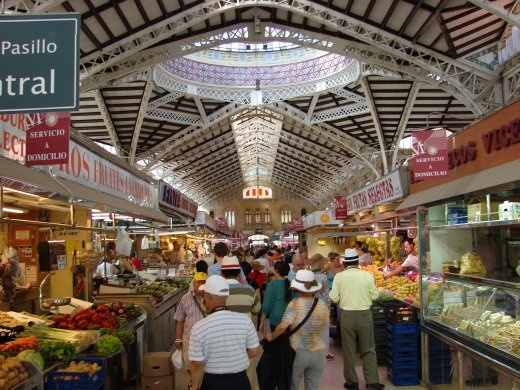 In Valencia inside the Mercado Central - A spectacle of cuisine.