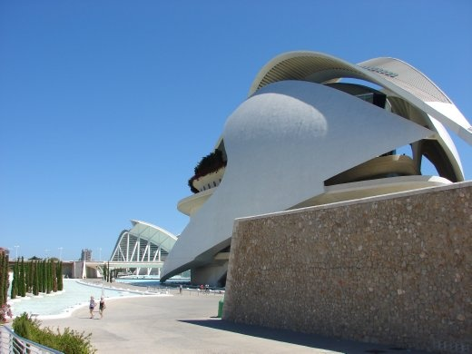 One of the amazing new buildings in Valencia. This is their Opera house. Looks like it could take off.