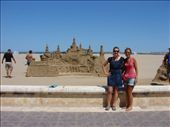 Em and Julz in front of an amazing sand castle at the beach in Valencia. : by milko_rosie, Views[271]
