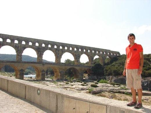 Maneesh at the Pont du Gard. Super impressive.
