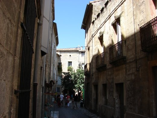 Walking in the back streets of Pezenas.