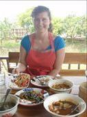 Enjoying the fruits of my Thai cooking class at a lovely organic farm...: by milyika, Views[413]