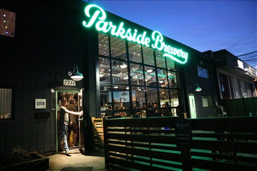 Stop 1 of the walking brewery tour of Port Moody: Parkside Brewery.