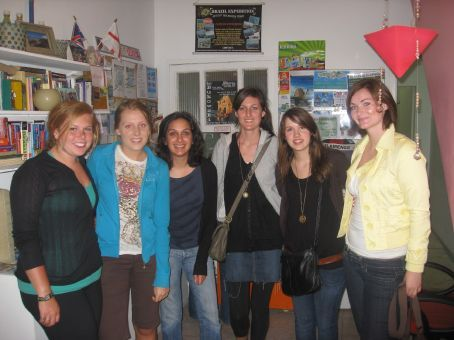 Girls at the Lighthouse Hostel where I stayed (I'm the one with the crazy barnet)