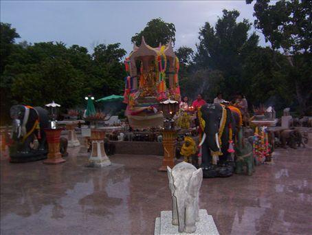 A Buddhist shrine in Phuket, Thailand.