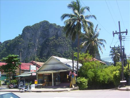 Ao-Nang town, where I stayed for my last three days in Krabi, Thailand.