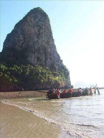 Railay Beach, Krabi, Thailand. Famous for world class rock climbing.
