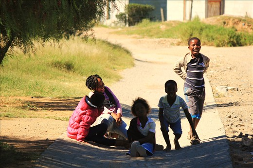 Always smiling. A new South Africa lined with brilliant white teeth and beaming gums.