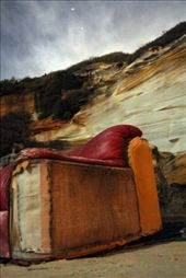 This is an old couch, nestled in some cliffs overlooking Dee Why beach on the Northern Beaches of NSW. My friend actually ruined my shot by standing/moving through the long exposure shot so I 'shopped him out: by mjvr, Views[266]