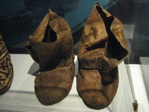 Fish-skin boots. Really.