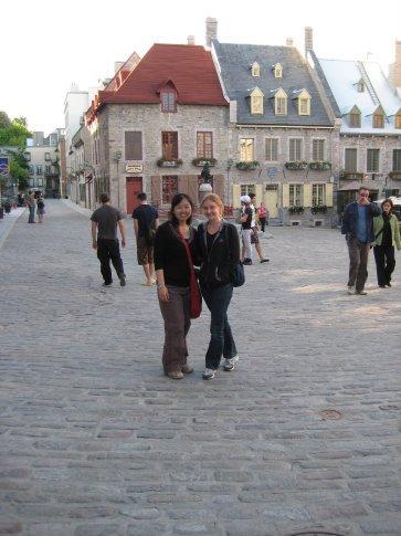 Tour mate Laura and I