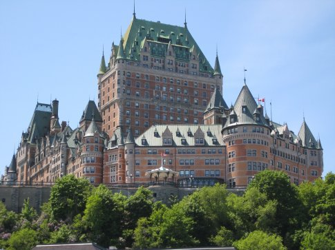 Fairmont Le Chateau Frontenac, apparently the most photographed hotel in the world.
