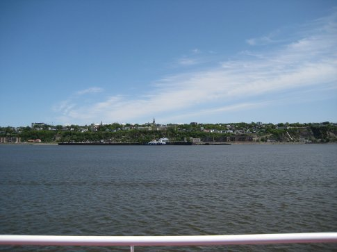 The St. Lawrence River, on our way to Levi