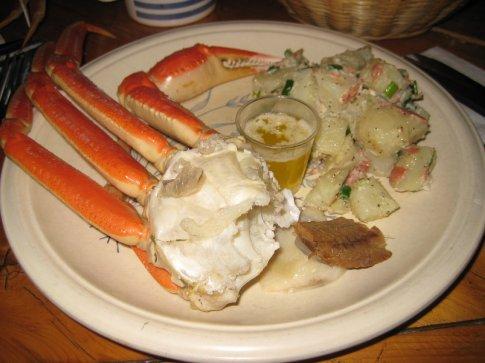 Snow crab dinner, very yummy.