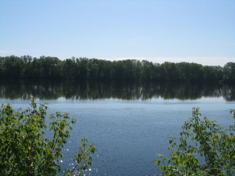 Our starting point : the calm part of the river