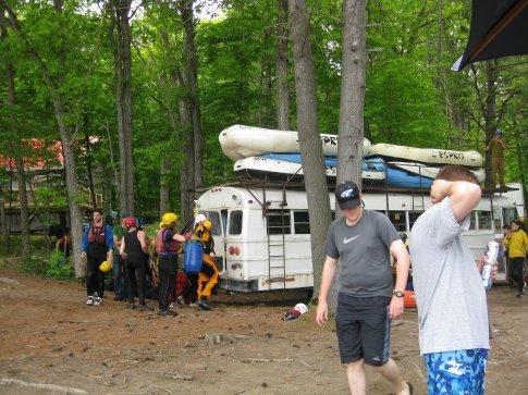 Post rapids : getting ready to go back on the bus