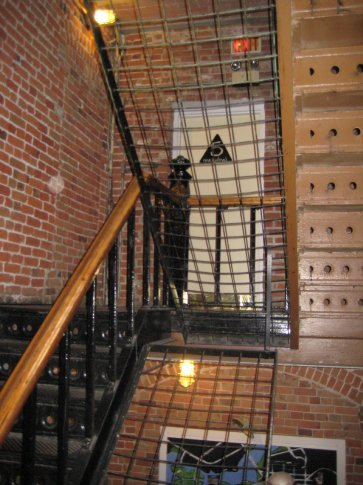 The grills were to prevent inmates from jumping down the stairwell and committing suicide.