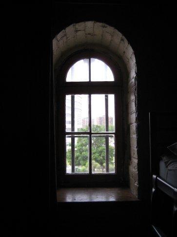 Whatever it's original purpose, the room still had bars on the windows.