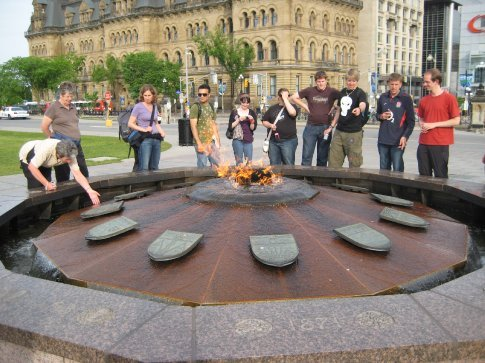 The Centennial Flame. It was lit for Canada's 100th anniversary and is never supposed to go out except for maintenance. Apparently, it's gone out 3 times, heheh.