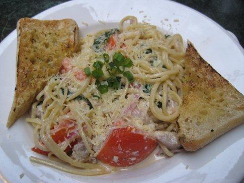 Catfish pasta