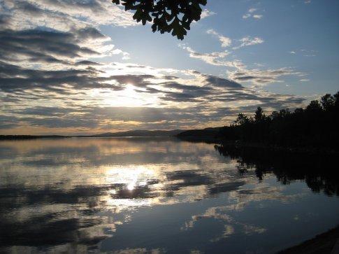 Ottawa river as the sun set