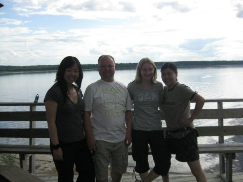 Me, Wayne (from the UK), Laura and Henny