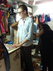 Anna getting measured at the tailor's for her saree blouse (it ended up fitting perfectly). : by mlodius, Views[82]