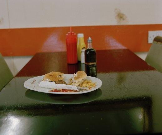 Remnants of a burger (9:15am)