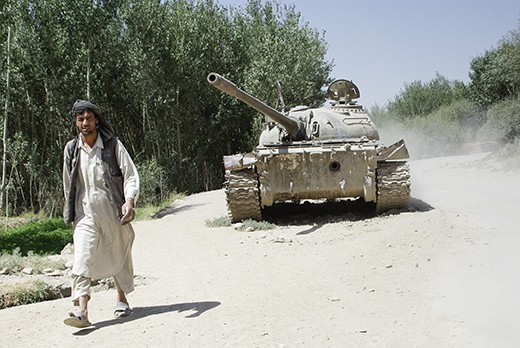 War remains from past and recent conflicts abound all around the country. This one, an old russian tank, is  found on the road from Kabul to Bamiyan.