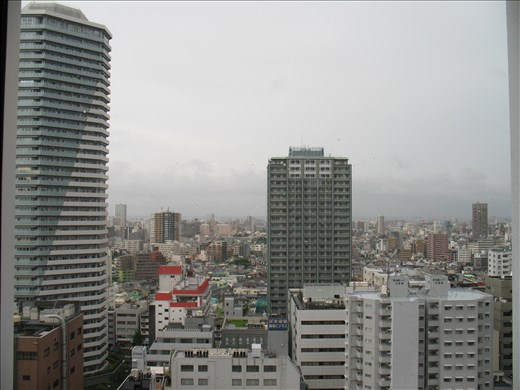 First impression of Tokyo: the view from the hotel room