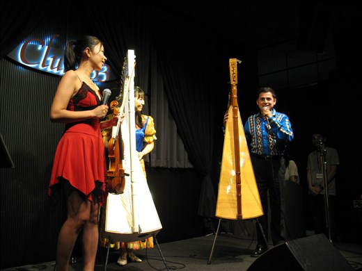 Free concert with violin and two harps