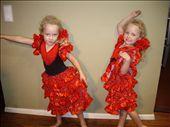 Senoritas Miki & Sienna their foray into Flamenco (or Flamango as they term it) : by morter_family, Views[974]