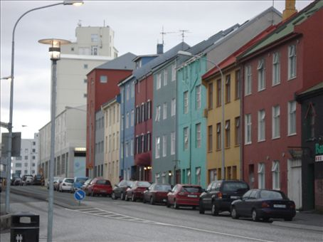 Colorful row houses. The Iceland/Scandanavian stereotype. This was the only street like this, though.