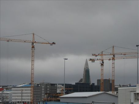 Welcome to Reykjavik. Home of the ever-present construction crane