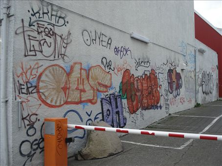 One example of the profuse amount of graffiti that I saw in Reykjavik. Many more photos to come in a flickr account.