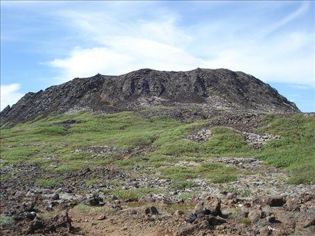 Eldborg, an old volcano on Snaelfellsnes Peninsula