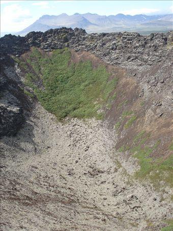 Inside Eldborg crater